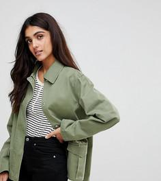 Хлопковая куртка ASOS TALL - Зеленый