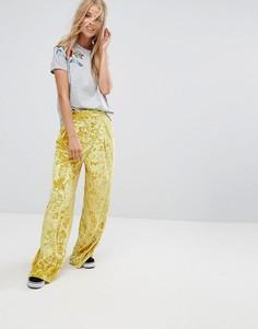 Бархатные брюки с широкими штанинами Pimkie - Желтый