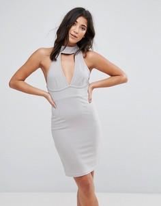 Облегающее платье Ax Paris - Серебряный