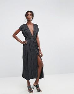Платье макси в полоску Bec & Bridge Blackbird - Мульти