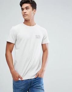 Белая футболка с принтом на груди Tom Tailor - Серый