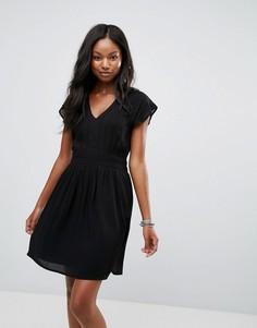 Платье с кружевной вставкой Vero Moda - Темно-синий