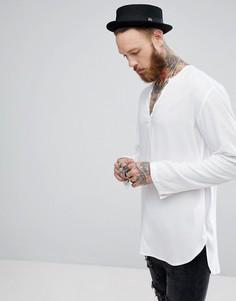 Белая рубашка из вискозы классического кроя ASOS - Белый