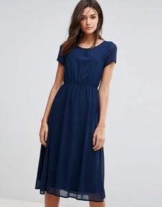 Платье миди в стиле колор блок Pussycat London - Темно-синий