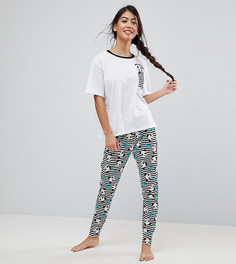 Пижама с леггинсами и футболкой ASOS PETITE - Мульти