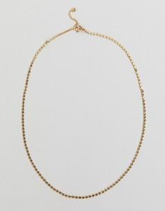 Ожерелье с подвеской Weekday - Золотой