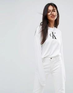 Лонгслив Calvin Klein Jeans - Белый