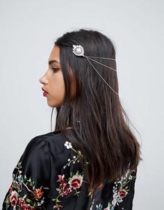 Цепочка для волос с камнями ASOS - Золотой