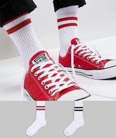 2 пары носков с блестящими полосками ASOS - Белый