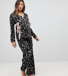 Пижама с цветочным принтом и завязкой ASOS MATERNITY Trailing - Мульти