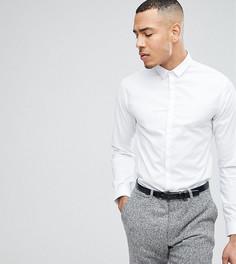 Облегающая рубашка со скрытой планкой Noak TALL - Белый