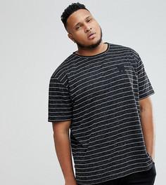 Черная футболка с полосами Good For Nothing PLUS - Черный