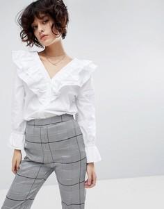 Рубашка с длинными рукавами и рюшами J.O.A - Белый J.O.A.