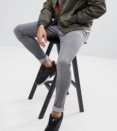 Выбеленные серые обтягивающие джинсы Brooklyn Supply Co - Серый