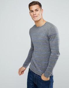 Джемпер с синими полосками Tom Tailor - Серый