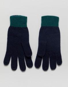 Темно-синие перчатки колор блок Jack Wills - Темно-синий