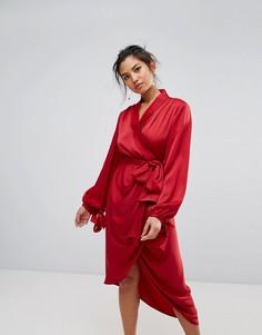Платье с запахом C/Meo Collective Influential - Красный