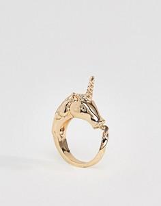 Кольцо с единорогом Monki - Золотой