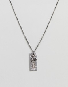 Серебристое ожерелье с подвеской-якорем Seven London - Серебряный