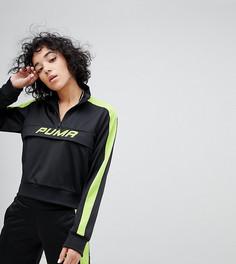 Черная спортивная куртка с зеленой неоновой отделкой Puma эксклюзивно для ASOS - Черный