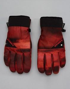 Красные перчатки с принтом Armada Decker Gore-Tex Ski - Красный