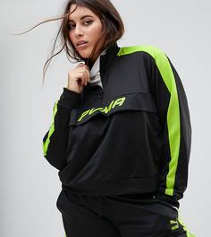 Черно-зеленая спортивная куртка Puma эксклюзивно для ASOS Plus - Черный