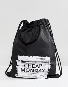 Сумка на затягивающемся шнурке с логотипом Cheap Monday - Черный