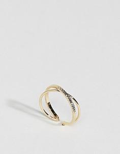 Контрастное кольцо ограниченной серии - Золотой Asos