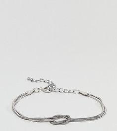Серебристый браслет DesignB эксклюзивно для ASOS - Серебряный
