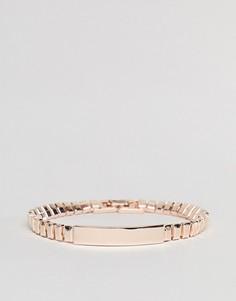 Золотисто-розовый браслет DesignB эксклюзивно для ASOS - Золотой