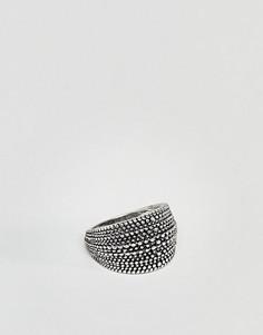 Черное кольцо с узором DesingB - Черный