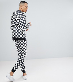 Спортивный костюм с шахматным принтом ASOS TALL - Черный