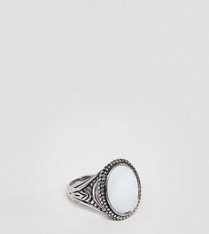Кольцо-печатка с белым камнем DesignB эксклюзивно для ASOS - Серебряный