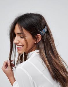 Заколка для волос ограниченной серии с полудрагоценным кварцем - Синий Asos