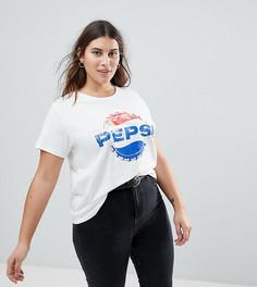 Футболка с принтом Pepsi в стиле ретро ASOS CURVE - Кремовый