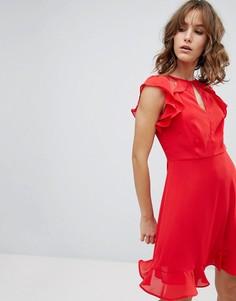Платье с оборками New Look - Красный