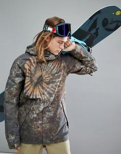 Утепленная горнолыжная куртка с капюшоном и принтом тай-дай Burton Snowboards Hilltop - Мульти