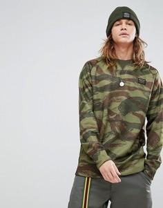 Зеленый свитшот с камуфляжным принтом Burton Snowboards - Зеленый