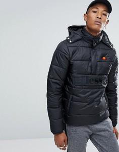 Черная дутая куртка Ellesse - Черный