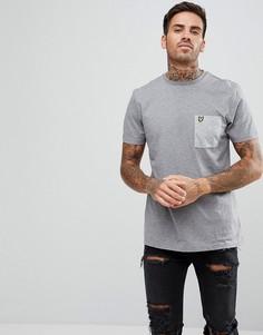 Серая меланжевая футболка с карманом Lyle & Scott - Серый