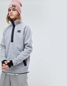 Серый свитшот из меланжевого флиса Burton Snowboards Hearth - Серый