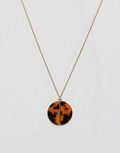 Ожерелье с леопардовой подвеской Pieces - Мульти