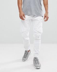 Белые суженные книзу брюки карго River Island - Белый