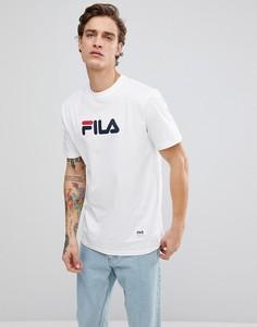 Белая футболка с крупным принтом логотипа Fila Black Line - Белый