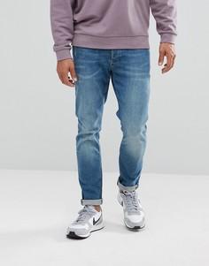 Синие выбеленные джинсы скинни River Island - Синий