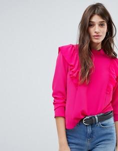 Блузка с оборкой JDY - Фиолетовый
