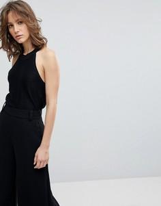 Трикотажный топ без рукавов Selected Femme - Черный