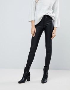 Зауженные джинсы с покрытием JDY - Черный