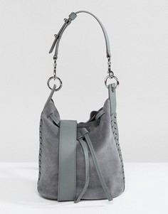 Замшевая сумка AllSaints - Синий