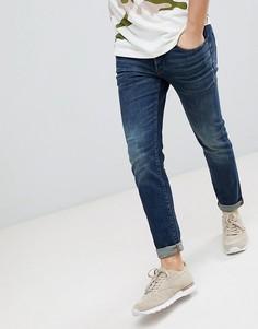 Узкие состаренные джинсы G-Star 3301 - Синий